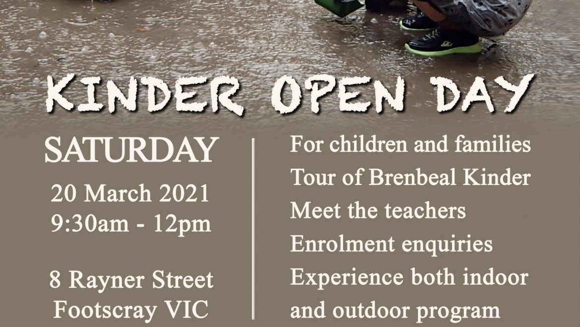 Take a tour- Kinder Open Day